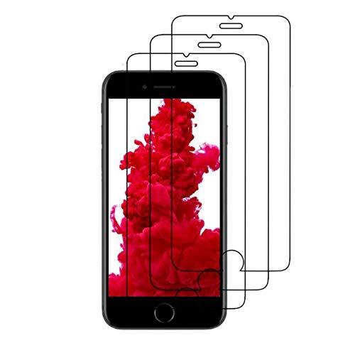 """Lot de 3 Verre Trempé pour iPhone 6 / 6S, iPhone 7/8, iPhone Se 2020 (4.7"""") Film Protection écran HD [3 Pack] Anti Rayures - sans Bulles d'air - Ultra Résistant [0,33mm] Dureté 9H Glass"""