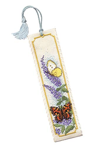 Textile Heritage Butterflies & Buddleia Counted Cross Stitch Bookmark Kit