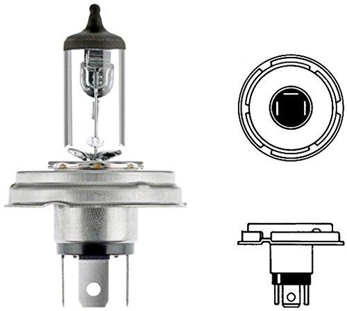HELLA 8GD 002 088-141 Lámpara, R2 (Bilux), Standard, 12V, 45/40W, Tipo de portalámpara P45t, caja, Cantidad 1