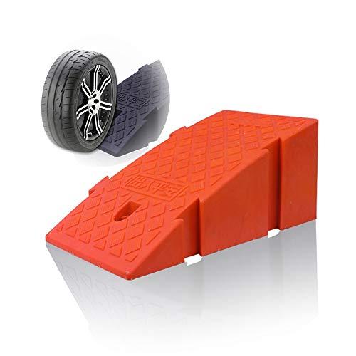 Baiyin Rampa Goma Cojín De Silla De Ruedas Alfombra De Carretera Pendiente Pendiente Pedal Antideslizante PVC Rampa De Auto Usar Costuras 2 Tamaños, 4 Colores (Color : Red, Size : 25X40X16CM)