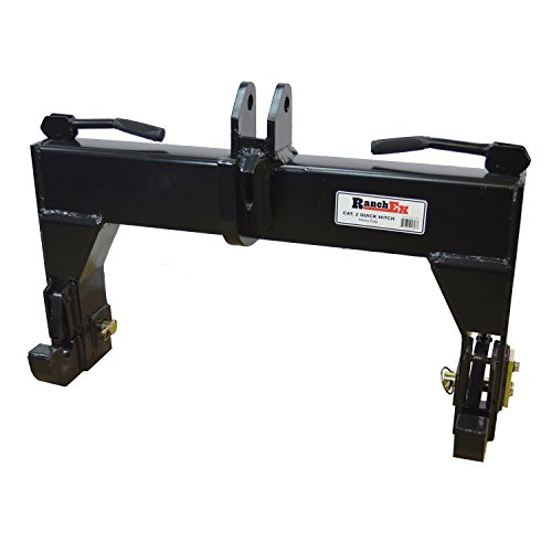 RanchEx 102854 Quick Hitch for 3-Point Implements - Cat 2, Includes Pins...