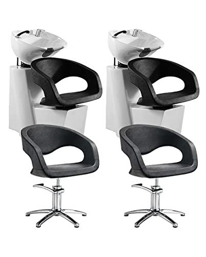 2 Lavatesta Parrucchiere e Barbiere Professionale con 2 Poltrone Offerta Wave