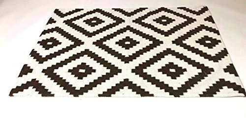 De'Carpet Alfombra Salón Dormitorio Estilo Nórdico Escandinava Bukle Marron (60x110cm)