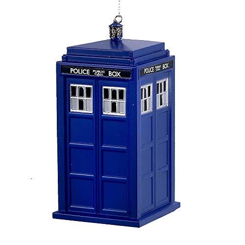 Kurt S. Adler YAMDW1131T Doctor Who Tardis Blow Mold Ornament, 4.5', Blue