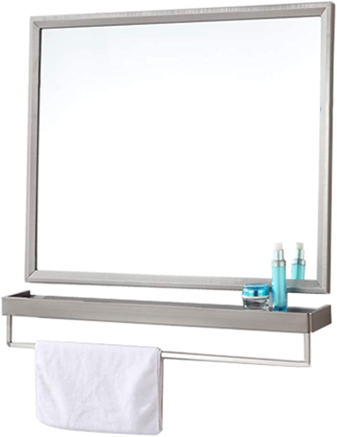 YANZHEN Mirror Wall Mirror Bathroom Wall-Mounted Shelf Toilets Combination Simple Stainless Steel, 8 Size
