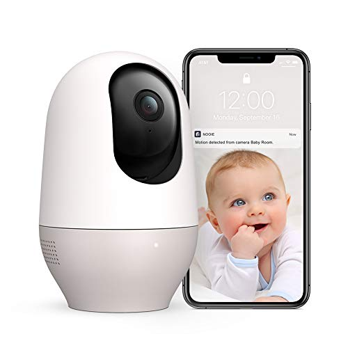 Baby Monitor Pet Camera Nooie 1080P HD Wireless WiFi Indoor Home Security Camera with Motion Tracking&Free Sound Alerts Two Way Audio Night Vision Works with Alexa with SD Card Slot and Cloud Monitors