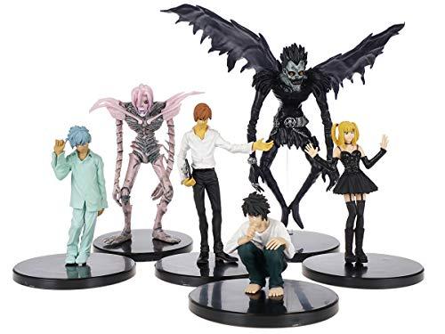 CoolChange Set de Figurines de Death Note avec L Lawliet, Light Yagami, Ryuk, REM, Misa Amane et Near