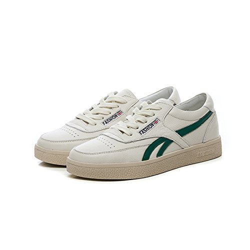 Q-QQ9 Small White Shoes Fashion Women's Shoes Casual Leather Platform Sports Shoes Front lace-up Shoes Women's Shoes*Green*39 MMM