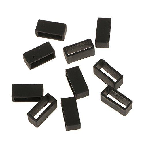 10 X Gummi Uhrenarmband Schlaufe Schnalle Halter für Uhrenarmbänder - 20mm Breite