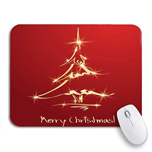 Mousepad Oro Golden Christmas Tree En Red Sketch Origami Xmas Game Mat DIY 2Sizes Antideslizante Respaldo De Goma Mousepad Alfombrilla para Ratón Computadoras De Oficina Impreso D 20X24cm