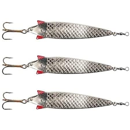 top quality! 5 X 28g TOBY HOLOGRAPHIC Salmon Pike Lure Spinner