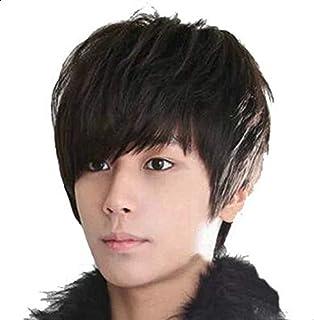 Korean Fashion Fluffy Repair Man wig Oblique Bangs Wig