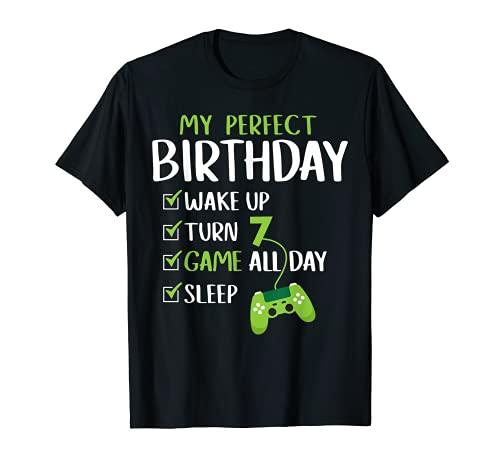 Fiesta de 7º cumpleaños. Regalo perfecto para un jugador de Camiseta