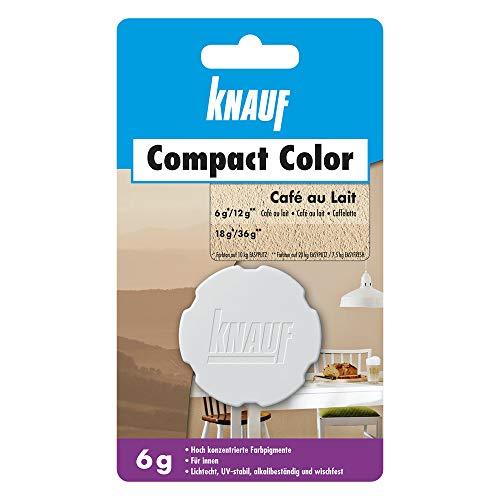Knauf Compact Colors Farb-Pigmente – Pigment-Pulver zum Einfärben von Putz, nicht staubend, hoch konzentriert und wischfest, Café au lait, 6-g