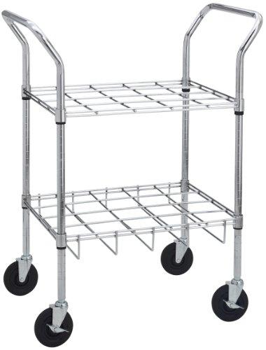 Drive Medical Oxygen Cylinder Carts for E, D, C or M9 Cylinders, Chrome, 12 Cylinder