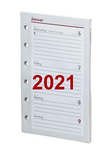 bsb Kalendereinlage Timereinlage für Zeitplaner Pocket A7 2020 1 Woche auf 2 Seiten 8 x 12,7 cm