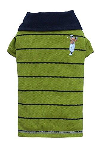 Doggy Dolly T125 Polo Shirt für Hunde, grün, Größe : XS