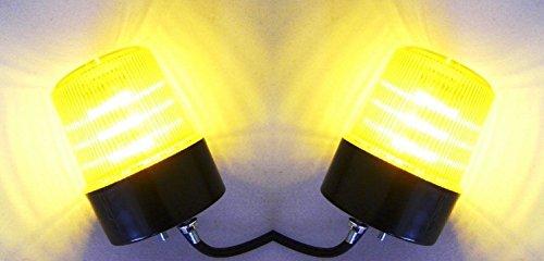 2 x 12 V drehende Warnung LED orange Dachleuchten Signalleuchten LKW Traktor Bus Notfahrzeug Schwerlast