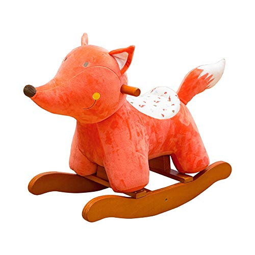 Review Of Baby Rocking Horse Rocking Horse Cute Fox Rocking Horse Kids Plush Ride-On Chair Standing ...