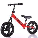 LaMei Yang Balance Bike Toddler Bike Ages 2-8 Training Push-Bike mit niedrigem Rahmen Luftfreier Reifen für Kleinkinder Sportalter bis zum Alter von Jahren kein Pedal,Red