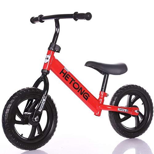 LaMei Yang Balance Bike Bicicletas para niños pequeños 2-8 Bicicletas de Empuje de Entrenamiento con llanta sin Aire de Cuadro bajo para niños pequeños Edad Deportiva hasta años de Edad Sin Pedal,Red