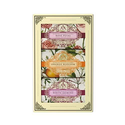 Aromas Artesanales De Antigua Floral Rose Petal Triple Milled Soap (Gift Set)