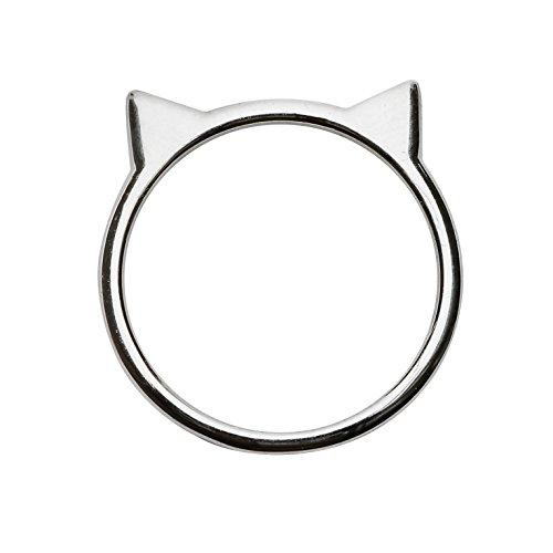 Silver Phantom Jewelry Cat Ear Ring in Sterling...