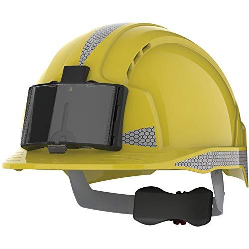 JSP Casco de protección industrial EVOLite EN 397 Revolution, cierre de rosca, color amarillo ✅