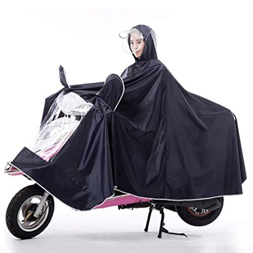 ZXL Regenjas voor motorfiets, elektrische fiets, ter verhoging van individuele dikke poncho, waterdicht, unisex, winddicht, waterdicht, kleur: violet, maat