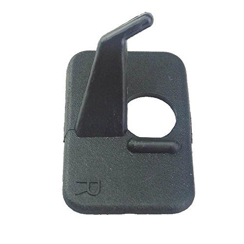 ZSHJG 10 Piezas Tiro al Arco Resto de Flecha Arco Recurvo Resto Plástico de la Flecha Autoadhesivo para Mano Derecha/Mano Izquierda (para Diestros)