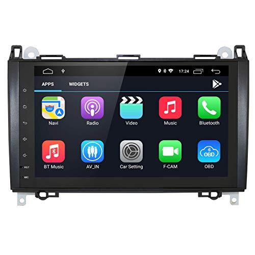 Car Navigator Android 10 2 Din Car Sistema multimedia con pantalla táctil capacitiva de 9 pulgadas + DSP Music para Mercedes-Benz A-W169 / B-W245 / V-W639 / W906 Sprinter / VW Crafter Soporte Bluetoo