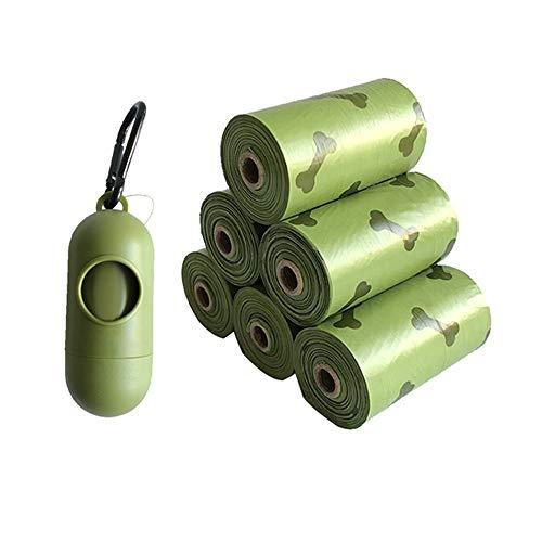 Dog Poo Taschen 6 Rollen / 90 Taschen, Kompostierbare, biologisch abbaubare, Dickes, Leak Proof, Pet/Hundepoop Taschen mit Easy-Tie Griffe