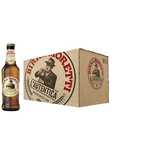 Birra Moretti cerveza lager italiana caja 24 botellas 33 cl - 7920 ml