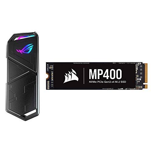 ASUS ROG Strix Arion - Caja de SSD M.2 NVMe + Corsair MP400 1TB Gen3 PCIe x4 NVMe