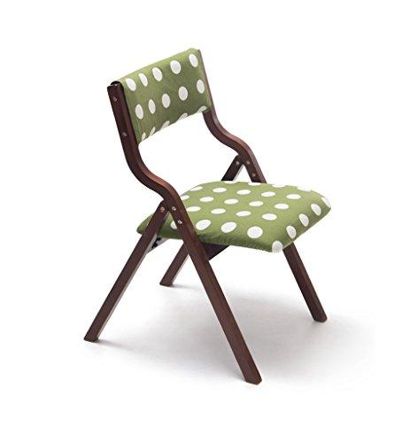 C-J-Xin Klapstoelen Indoor, Student weten bureaustoel Hoge Kruk met rugleuning versterken Houten Bracket Green Lengte 78.5CM Decoratieve kruk (Color : B)