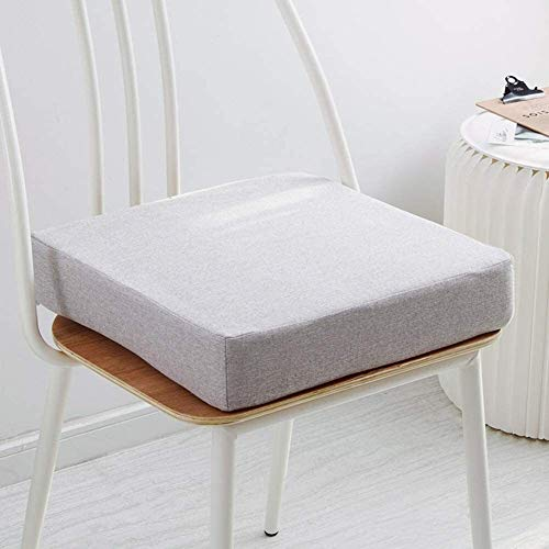 Not-slip Foam Round Chair Pad Soft Square Bench Cushion Thicken Chair Seat Cushion Chair Mat For Kitchen Dining Office Chairs (Color : D1, Size : 50x50x5cm(19.7x19.7x2in))