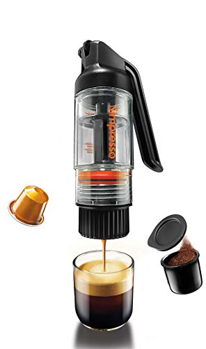 Simpresso Portable Espresso Maker | Compact Travel Coffee Maker Compatible with Nespresso Pods & Espresso Ground Coffee | Manually Operated | Premium Travel Package with All Accessories Included