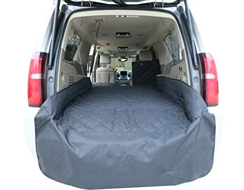 Plush Paws Upgraded Refined Cargo Liner for Dogs and Pets - Waterproof & Nonslip Silicone Backing for Trucks & Suv's, YKK Zippers and Bumper Flap (Extra Large, Black)