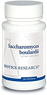Biotics Saccharomyces boulardii – Probiotic Supplement. Benefits Microbial Balance. Dairy-Free, Temperature-Stable, Supports GI Health, Supports Healthy Immune and Inflammatory Responses. 60 ct
