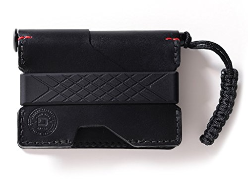 Dango P01 Pioneer EDC Wallet - Made in USA - Italian Veg-Tanned Leather, RFID Blocking, CNC Space Ink Pen, 48-Page Notebook