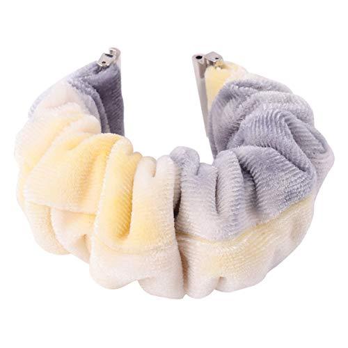 Hemobllo Horlogebandjes Soft Sport Armband Vervangingsbanden Stof Armband Elastische Haarelastieken voor Verjaardagscadeau 22mm (Stijl 52)