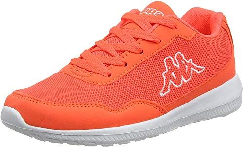 Kappa Unisex Follow Sneaker, Rot Coral White 2910, 36 EU