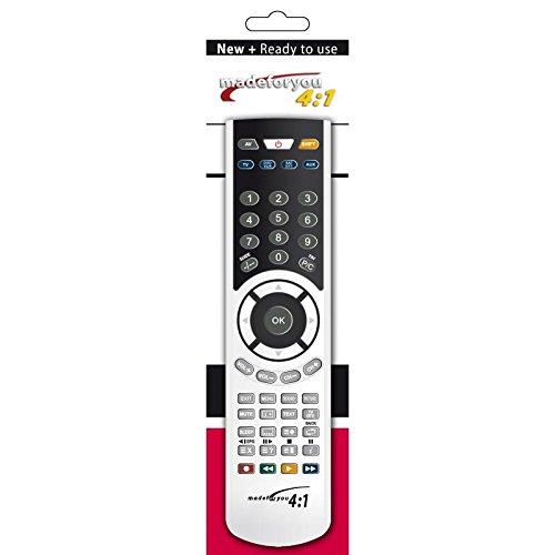 G.b.s. elettronica 2084 Fernbedienung IR Wireless DVD/Blu-ray,TV,VCR Drucktasten - Fernbedienungen (DVD/Blu-ray,TV,VCR, IR Wireless, Drucktasten, Schwarz, Silber)