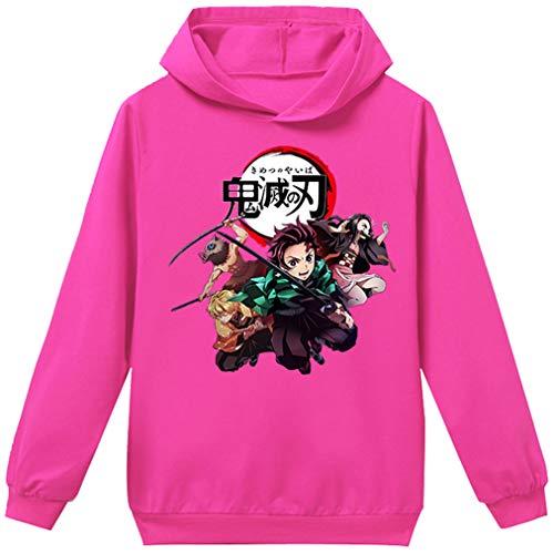 OLIPHEE Demon Slayer Kimetsu No Yaiba 3D Sudadera con Capucha Disfraz Anime...