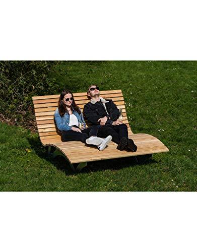 Sonnenliege Waldsofa Forst 150 für 2-3 Personen aus Holz | Außenliege, Himmelsliege, Wellnessliege, Holzliege für den Garten