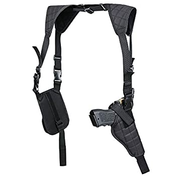 Twod Concealed Carry Shoulder Holster Nylon Cross Harness Vertical Shoulder Holster Adjustable for Most Handguns or Pistol