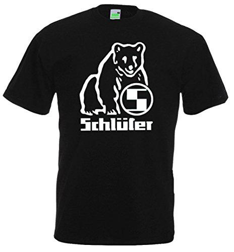 Schlüter T-Shirt | Schwarz | Druck in weiß | Größe XXL