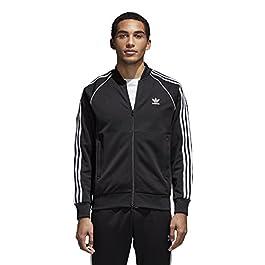 adidas Men's Originals Superstar Track Top Jacket, Black, Medium