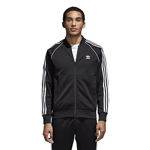 adidas Originals Men's Superstar Track Jacket, Black, L