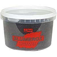 Rayt 1188-81 Blumerox Polvo para Interiores y Exteriores Cemento Blanco o Gris, Cal y Yeso. Altísimo Poder colorante. Pigmentos de Primera Calidad. Color Negro 10, 750gr